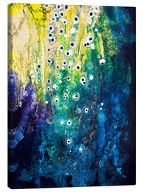 Canvas print  Flowers and waterfall after Klimt - Tara Thelen