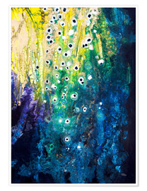 Premium poster  Flowers and waterfall after Klimt - Tara Thelen