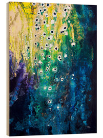 Wood print  Flowers and waterfall after Klimt - Tara Thelen