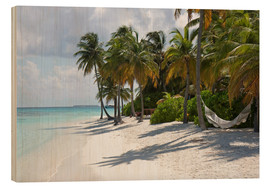 Wood print  Tropical beach with a hammock - Circumnavigation