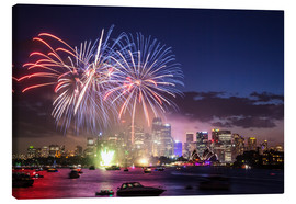 Canvas print  New Year's Eve in Sydney - Matteo Colombo