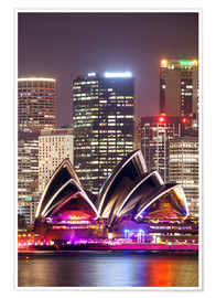 Poster Sydney Opera house at night
