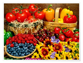 Poster  Fruits And Vegetables - David Chapman