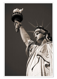 Premium poster  statue of Liberty - Richard Cummins