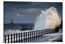 Aluminium print  Waves in Sunderland - John Short