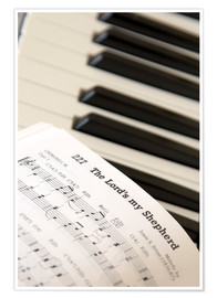 Premium poster  Sheet music on piano keyboard - John Short