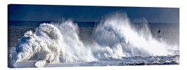 Canvas print  Waves crashing on lighthouse - John Short