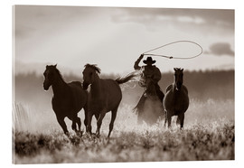 Acrylic print  Cowboy of the horses catches - Richard Wear