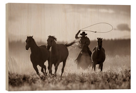 Wood  Cowboy of the horses catches - Richard Wear