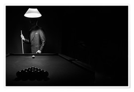 Poster  Pool players and billiard balls - Richard Wear