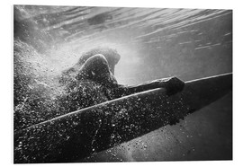 Foam board print  Woman on surfboard underwater - Ben Welsh