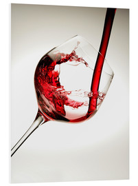 Foam board print  Red wine in a glass - Richard Desmarais