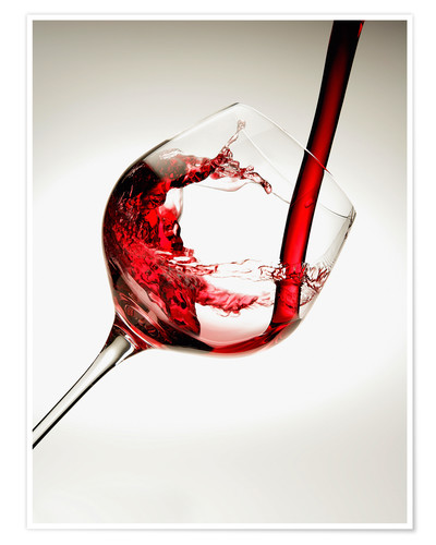 Premium poster Red wine in a glass