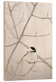 Wood print  Bird on a branch - Richard Wear