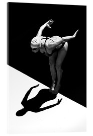 Acrylic print  A woman jumps into the water I - Ben Welsh