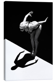 Canvas print  A woman jumps into the water I - Ben Welsh