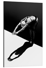 Aluminium print  A woman jumps into the water II - Ben Welsh