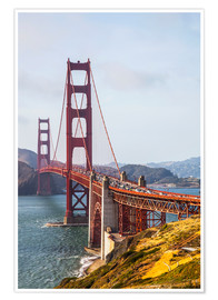 Premium poster Golden Gate Bridge in San Francisco