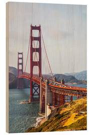 Wood  Golden Gate Bridge in San Francisco - Leah Bignell