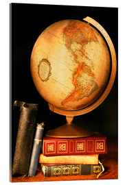 Acrylic print  Globe And Books - Don Hammond