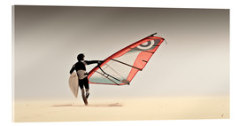 Acrylic print  windsurfer in the sand - Ben Welsh