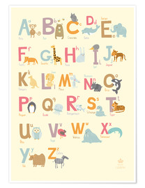 Premium poster Animal Alphabet for the Nursery (German)