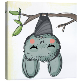 Canvas print  Bat Livia chills - Little Miss Arty