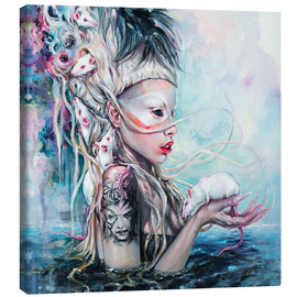 Canvas print  Yolandi, the rat mistress - Tanya Shatseva