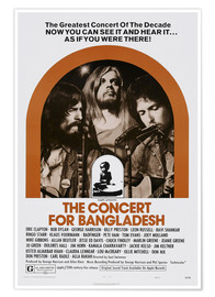 Premium poster THE CONCERT FOR BANGLADESH