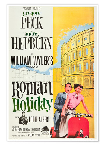 Roman Holiday Posters And Prints Posterlounge Co Uk