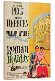 Wood print  Roman Holiday