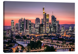 Canvas  Skyline Frankfurt am Main Sundown - Frankfurt am Main Sehenswert