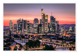 Premium poster  Skyline Frankfurt am Main Sundown - Frankfurt am Main Sehenswert