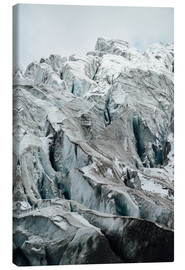 Canvas  Closeup view of glacier above Saas Fee, Switzerland - Peter Wey