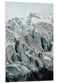 Foam board print  Closeup view of glacier above Saas Fee, Switzerland - Peter Wey