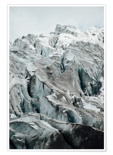 Premium poster Closeup view of glacier above Saas Fee, Switzerland