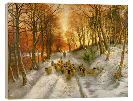 Wood print  Through the Calm and Frosty Air - Joseph Farquharson