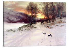 Canvas  When the West with Evening Glows - Joseph Farquharson