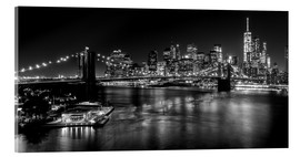 Acrylic print  New York City by Night (monochrome) - Sascha Kilmer