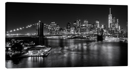 Canvas print  New York City by Night (monochrome) - Sascha Kilmer
