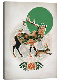 Canvas print  Stag, bird and hare - Mandy Reinmuth