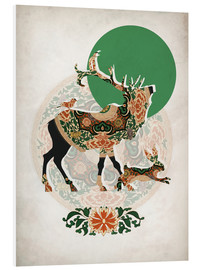 Foam board print  Stag, bird and hare - Mandy Reinmuth