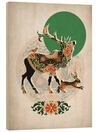 Wood  stag, bird and hare - Mandy Reinmuth