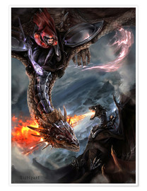 Premium poster Dragon Battle