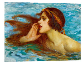 Acrylic print  A little sea maiden - William Henry Margetson