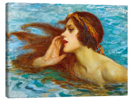 Canvas  A little sea maiden - William Henry Margetson