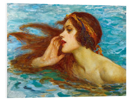 Foam board print  A little sea maiden - William Henry Margetson