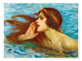 Premium poster  A little sea maiden - William Henry Margetson