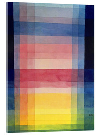 Acrylic print  Architecture of the plain - Paul Klee