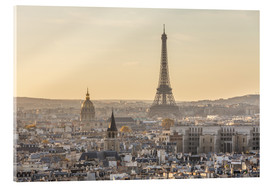 Acrylic print  Paris in the evening light - Matteo Colombo